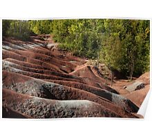 Mars on Earth - Cheltenham Badlands, Ontario, Canada Poster