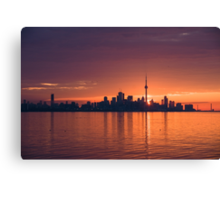 Bright and Orange Toronto Sunrise Canvas Print