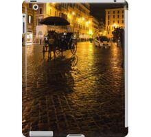 Golden Glow - Night on the Spanish Steps Piazza in Rome, Italy iPad Case/Skin