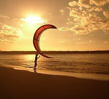 Kite Surf Man by leighroy