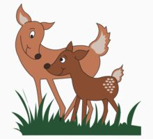 Woodland Deer Mommy and Baby  Kids Clothes
