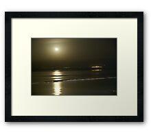 Moon rise over the dead sea Framed Print
