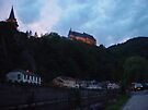 Vienden river and castle at night by Moshe Cohen
