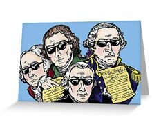 Founding Father Dudes Greeting Card