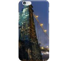 Wheeling Suspension Bridge at Night iPhone Case/Skin