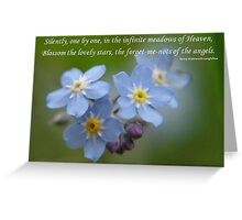 The Forget-Me-Nots of the Angels Greeting Card Quote Greeting Card