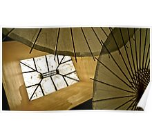 Skylight & Japanese Parasols Poster