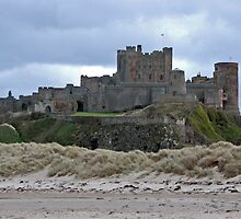 Bamburgh castle Northumberland by Arthur Chambers