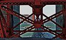 Under The GoldenGate Bridge Looking Toward Marin. by Scott Johnson
