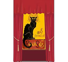 Le Chat D'Amour with Theatrical Curtain Border Photographic Print