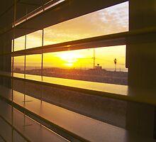 Sunrise through Venetian Blinds by Diana Forgione