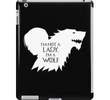 Arya Stark- Im a Wolf (White) iPad Case/Skin