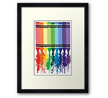Spattered Crayons  Framed Print