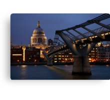Millenium Bridge to St Pauls Canvas Print