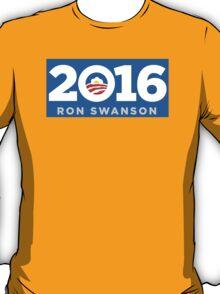 Ron Swanson 2016 sticker mug campaign poster T-Shirt