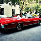 Side View of Classic Red Pontiac by ShellyKay
