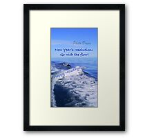 Go with the flow holiday card - dolphin Framed Print