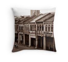 Penang Shop Houses Throw Pillow