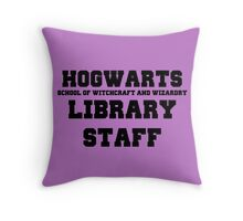 Hogwarts Witchcraft and Wizardry Library Staff Throw Pillow