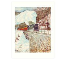 Narrow Gauge Railway in the Harz Mountains Art Print