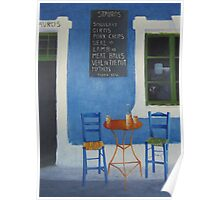Table For Two Mykonos Greece Poster