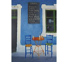 Table For Two Mykonos Greece Photographic Print