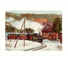 Harz Mountains Narrow Gauge Railway Art Print