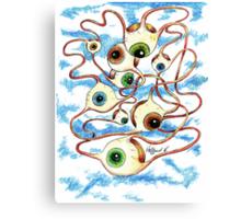 Flying Eyes Canvas Print
