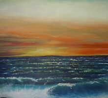Sandy Hook Sunset (2) by Yianni Digaletos