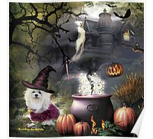 Snowdrop the Maltese - Hubble Bubble at Halloween ! Poster