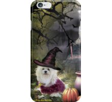 Snowdrop the Maltese - Hubble Bubble at Halloween ! iPhone Case/Skin