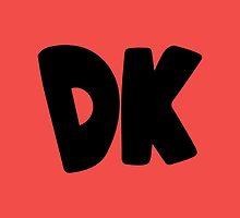 Donkey Kong Symbol - Super Smash Bros. (black) by hopperograss
