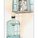 Small Blue Door by mrana