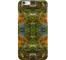Abstract Mosaic in Green Blue Orange iPhone Case/Skin
