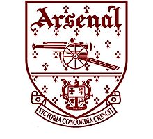 Arsenal Retro Crest Photographic Print
