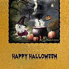 Snowdrop the Maltese Halloween Card by Morag Bates