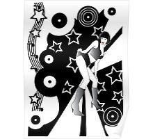retro glam discotheque Poster