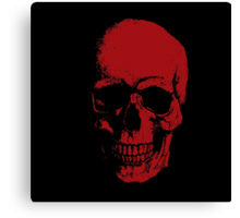 Skull - RED Canvas Print
