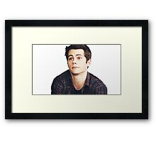 Dylan O'Brien is a puppy Framed Print