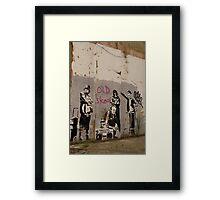 Old Skool - Banksy Framed Print