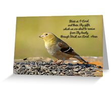 Grace Before Meals Greeting Card