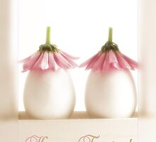 Sitting Pretty Easter Greeting Card by Martie Venter