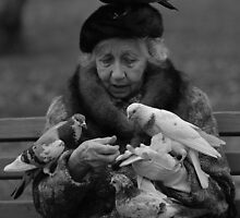 Bird Lady of Central Park NYC by halnormank