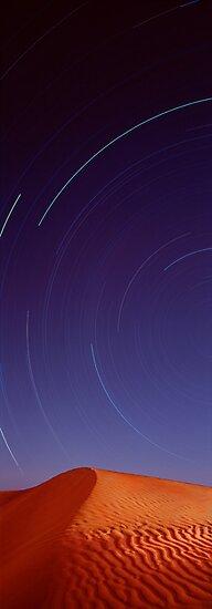 Celestial Trails - Simpson Desert, Qld by Ben Messina