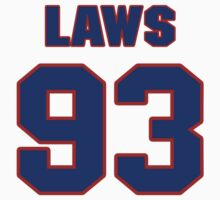 National football player Trevor Laws jersey 93 by imsport