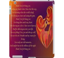 Thank You for Being You Poetry Greeting Card iPad Case/Skin