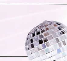 Disco Ball on White by KellieBee