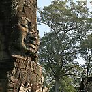 Faces at Bayon Temple, Cambodia by Leigh Penfold