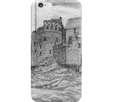 My pencil drawing of Dartmouth Castle, Devon - all products bar duvet iPhone Case/Skin