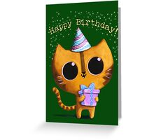 Cute Birthday Cat Greeting Card